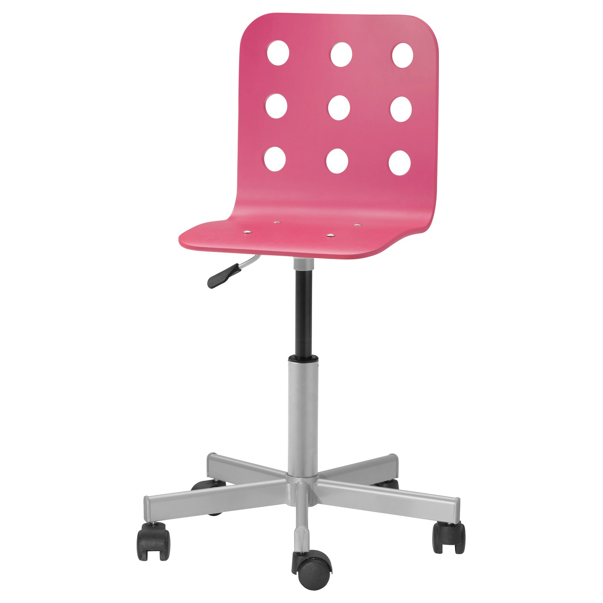 JULES Junior desk chair pink silver color IKEA $34 99