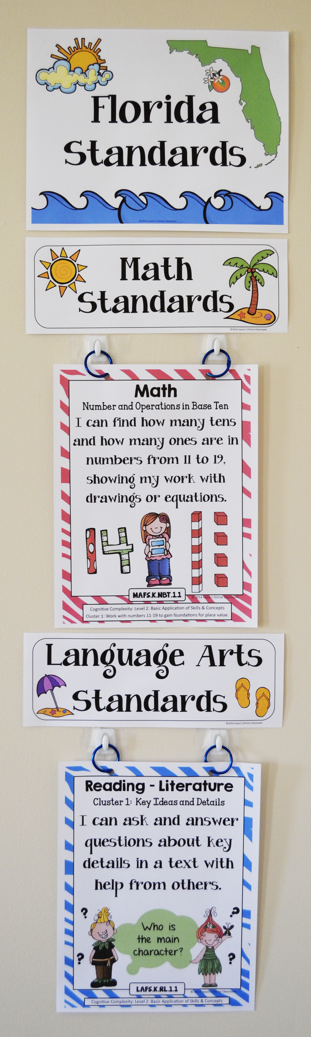 Florida Standards I Can Statements Math & ELA Kindergarten
