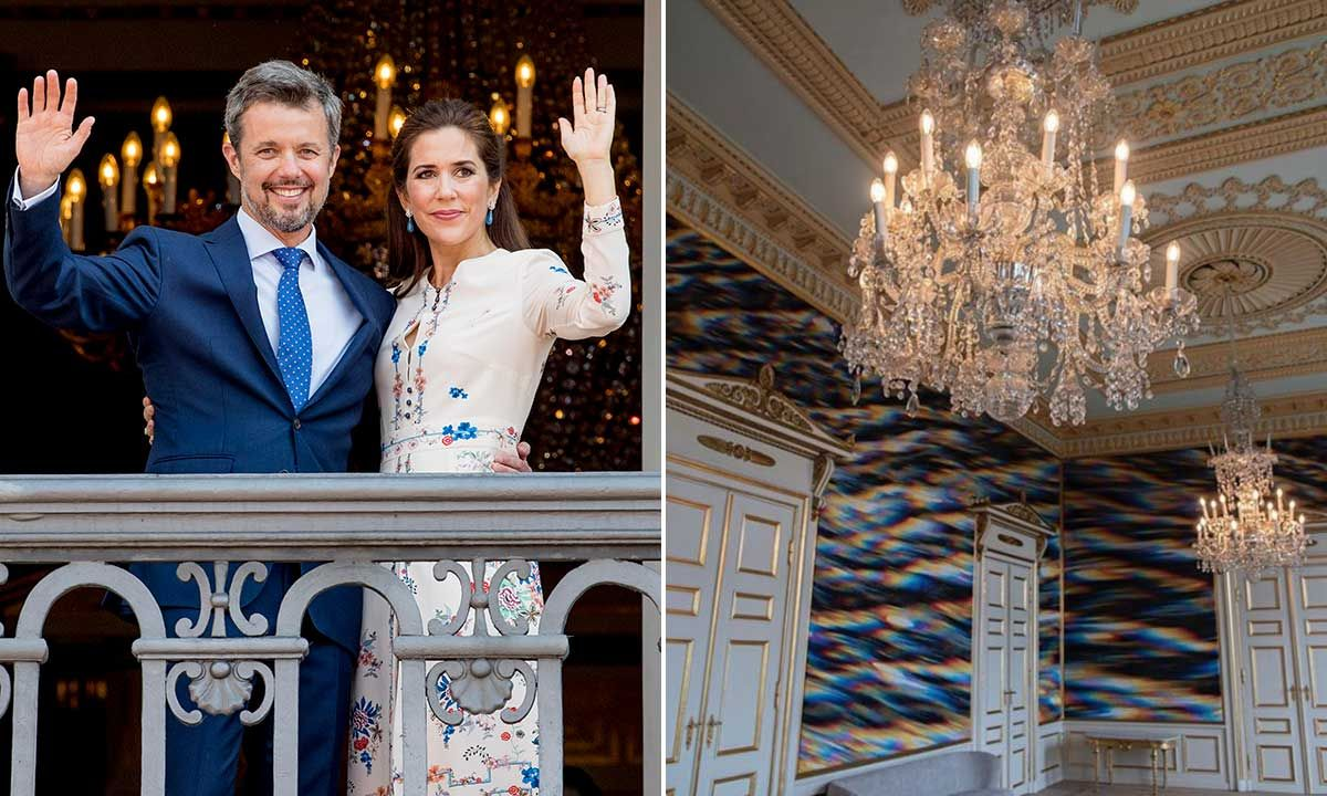 Danish royal family reveal unseen room inside home palace