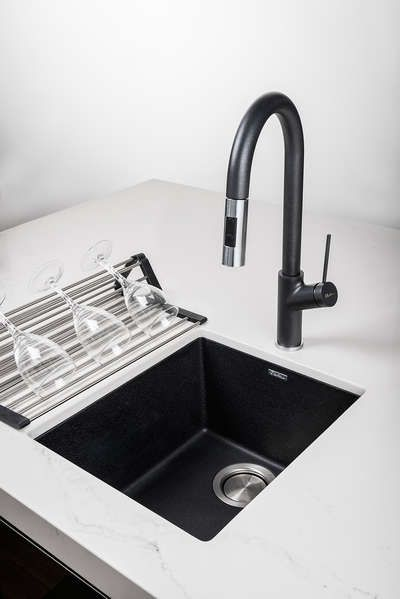black kitchen sink and taps image result for black kitchen sink white tap kitchen 7887