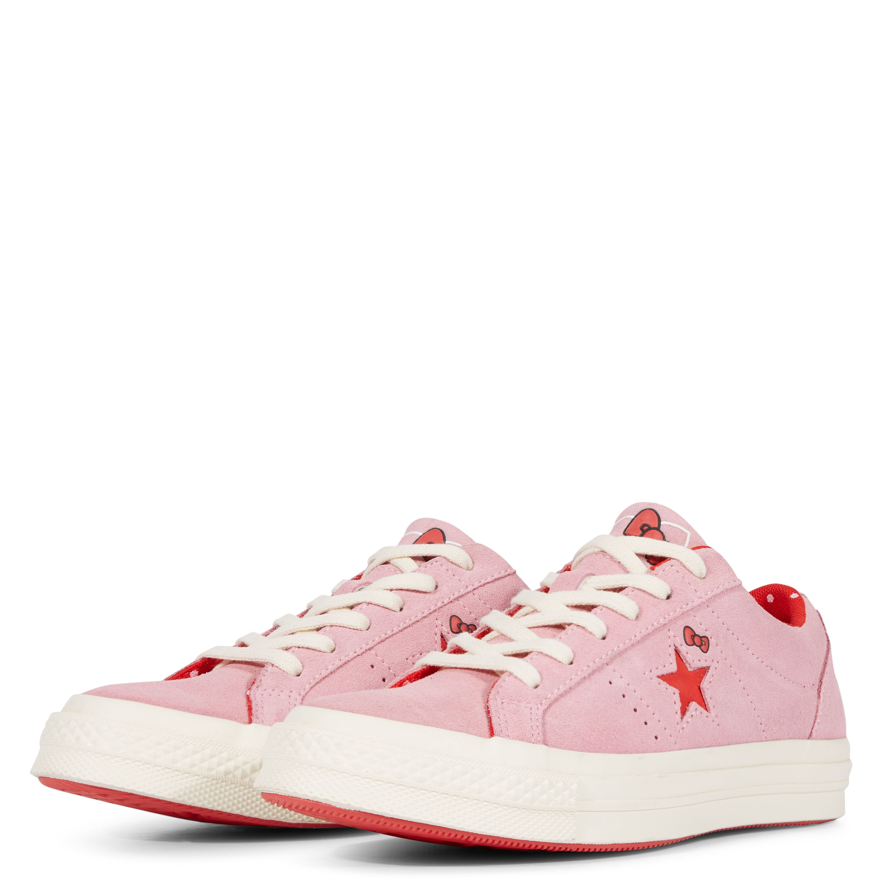 88d54a2a4e3c1a Converse x Hello Kitty One Star Prism Pink Fiery Red Egret ...