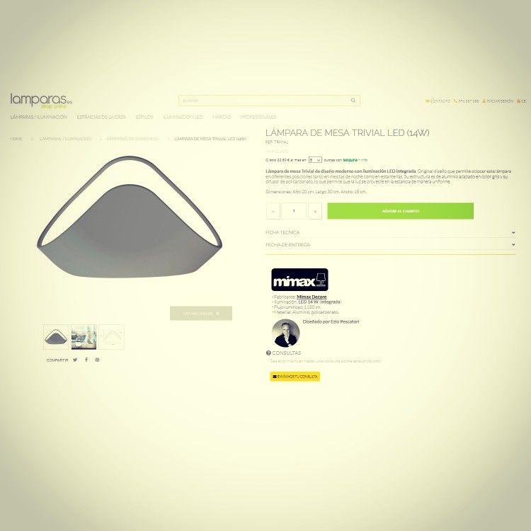 de mesa diseño moderno con Trivial iluminación de Lámpara v0Nym8nwO