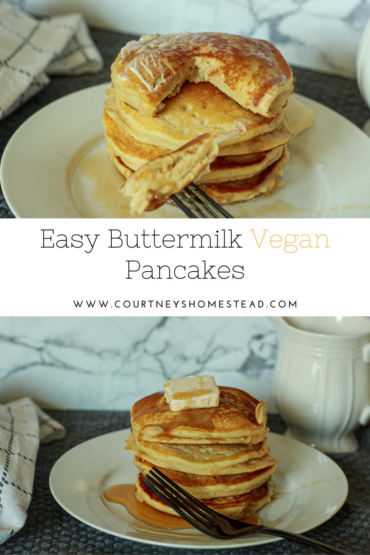 Delicious Vegan Buttermilk Pancakes In 2020 Tasty Pancakes Buttermilk Recipes Delicious Vegan Recipes