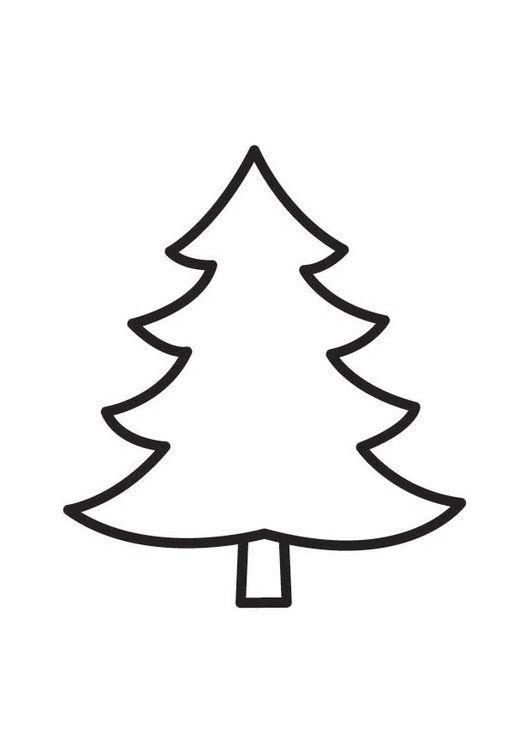 Dibujo Para Colorear Pino Figuras Mandalas De Navidad Arbol