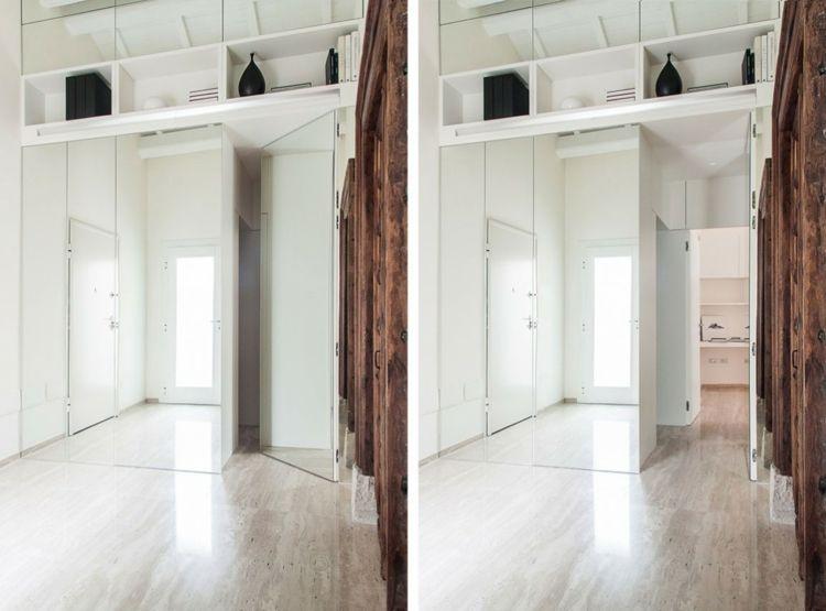 garderobe begehbarer kleiderschrank spiegel holz tuer indisch weiss wohnideen spiegel holz. Black Bedroom Furniture Sets. Home Design Ideas