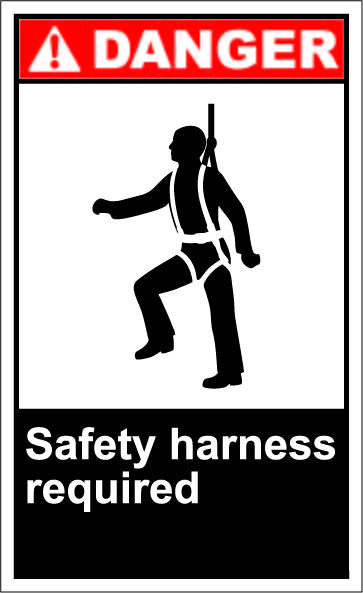 57d8ee123acb2811a56e8db6e85ca25c safety harness required $1 64 signs work pinterest signs live wire safety harness hunting at alyssarenee.co