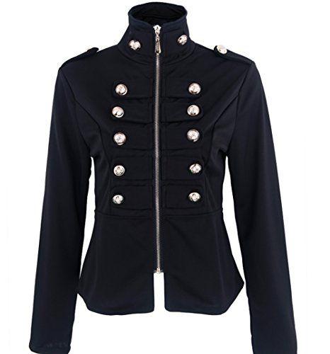 Jubileens Women's Casual Zip Front Stand Collar Buttons D... https://www.amazon.com/dp/B018VNIICO/ref=cm_sw_r_pi_dp_x_LwNeybAXV0GYG