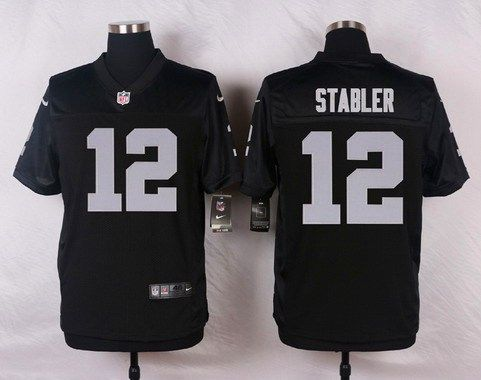 Men s Oakland Raiders  12 Kenny Stabler Black Retired Player NFL Nike Elite… 3af6c94c2f0