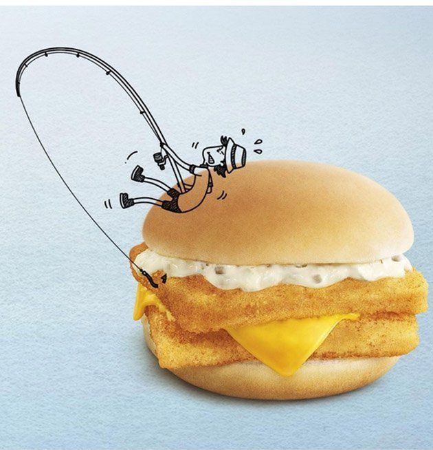 新加坡麥當勞用各種餐點創作出「...