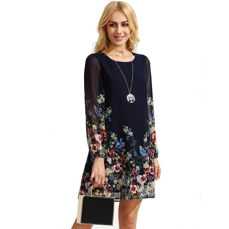 972310b05 SheIn Casual Dresses for Woman Mini Dress Women Clothes Elegant Dress  Vintage Black Retro Circle Print Tunic Dress   amadress   Dresses, Casual  dresses for ...