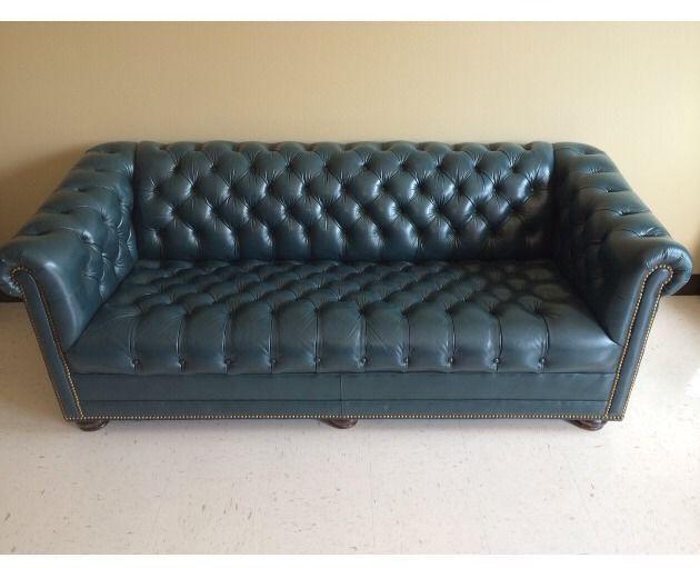 Super Vintage Hancock Moore Tufted Leather Chesterfield 77 Sofa Ibusinesslaw Wood Chair Design Ideas Ibusinesslaworg