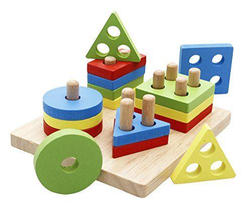 Wooden Number Learning Clock Wooden Block Tiger Shape Toddler Preschool Game