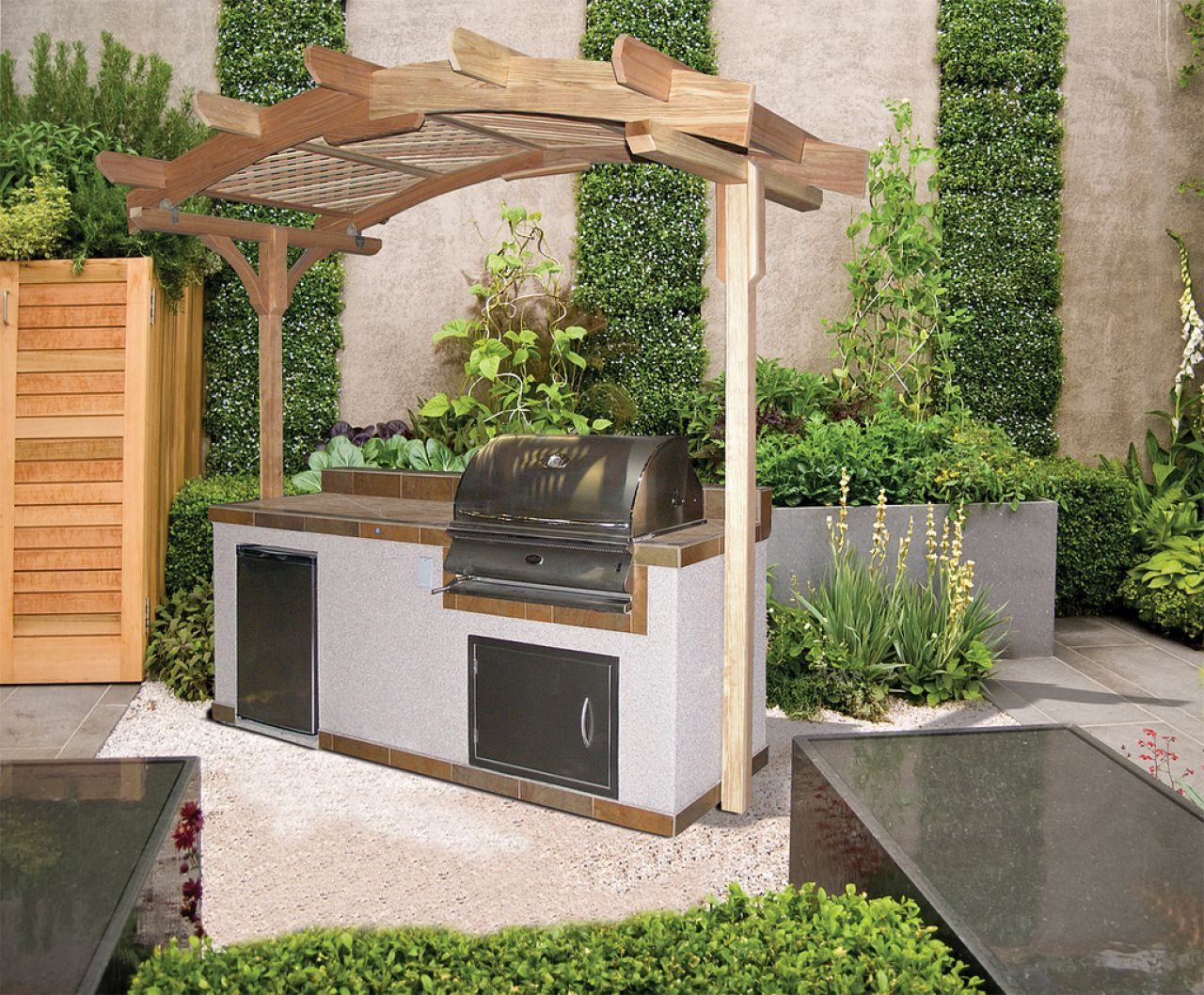 Odk simple out door kitchen pinterest yard ideas and doors