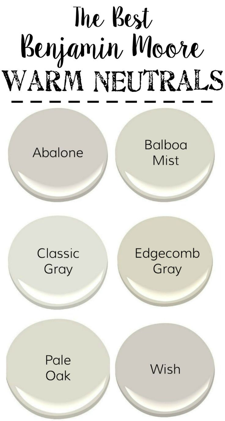 Best neutral paint colors benjamin moore enchanting best for Warm neutral grey paint