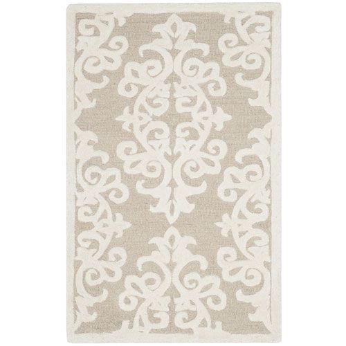 Bella Sand and Ivory Rectangular: 3 Ft. x 5 Ft. Rug - (In No Image Available)