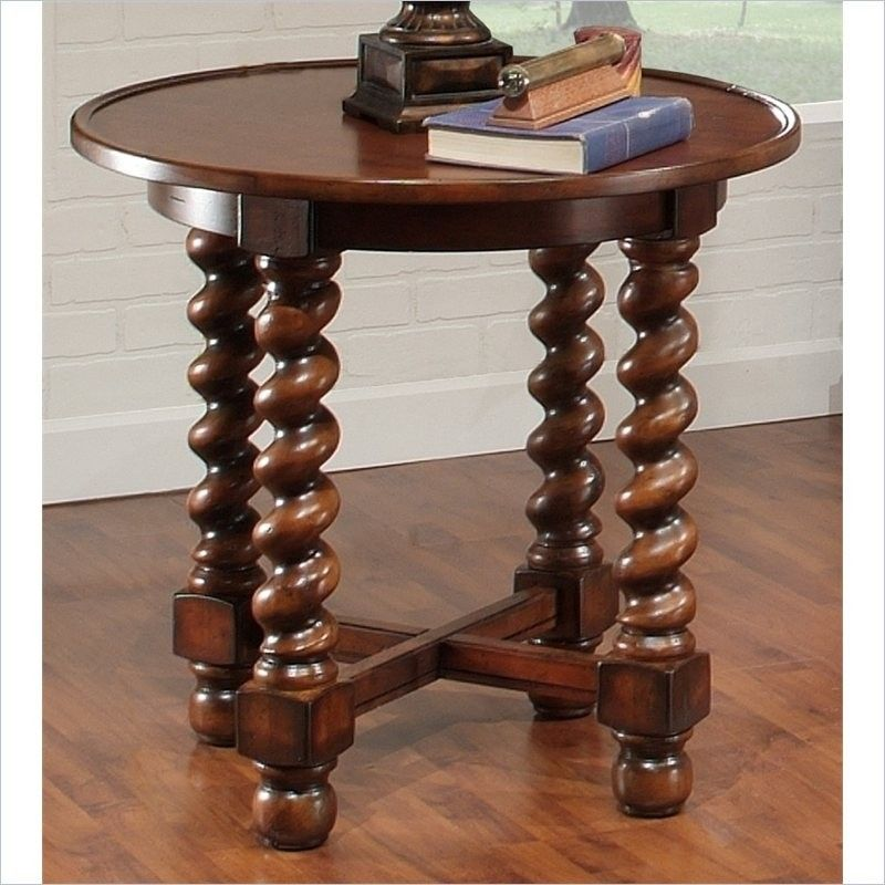 Round Oak End Tables   Foter