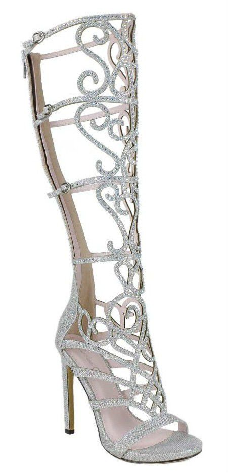 New High Heel Sandal Open Toe Rainbow Rhinestone Crystal