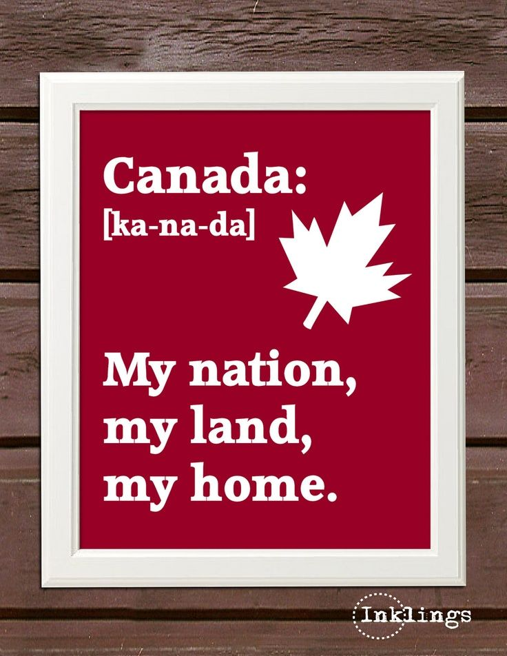 """SALE 8""""x10"""" Printable / Digital Poster 'Canada Day"""