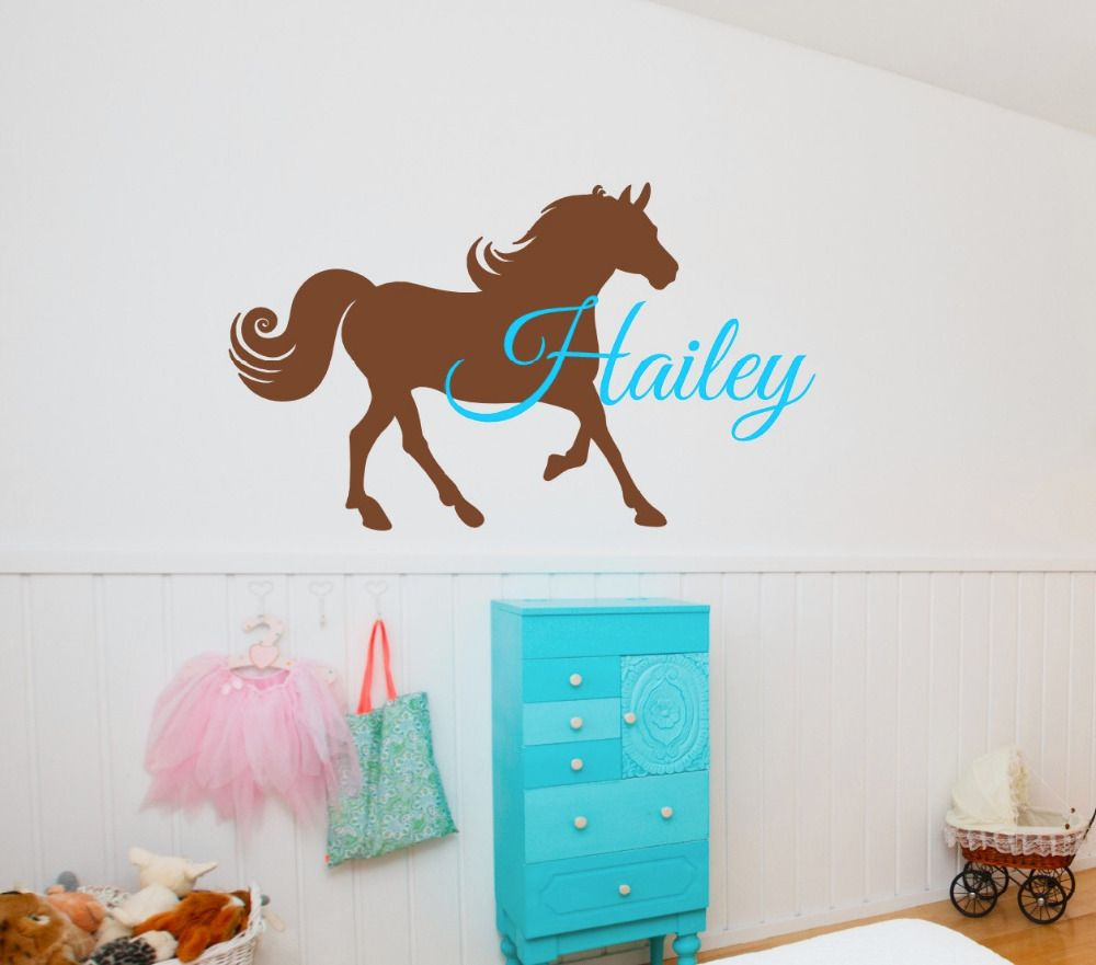 personalized name horse wall stickers for kids room boys girls room personalized name horse wall stickers