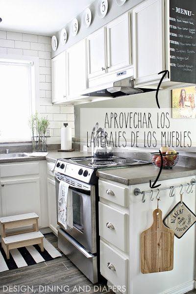 Mini Cocinas Llenas De Detalles No Te Lo Pierdas Cocina Espacio Pequeno Decorar Cocinas Pequenas Decoracion De Cocina
