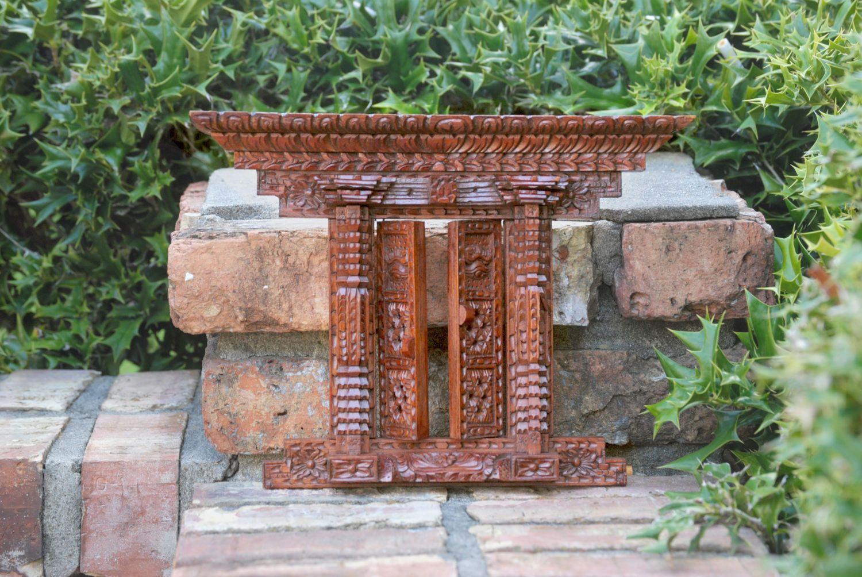 Antique design Nepali wood carving wall hanging door/window frame ...