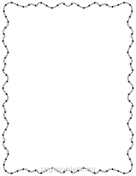 Barbed Wire Border | Frames & Borders | Pinterest | Border templates ...