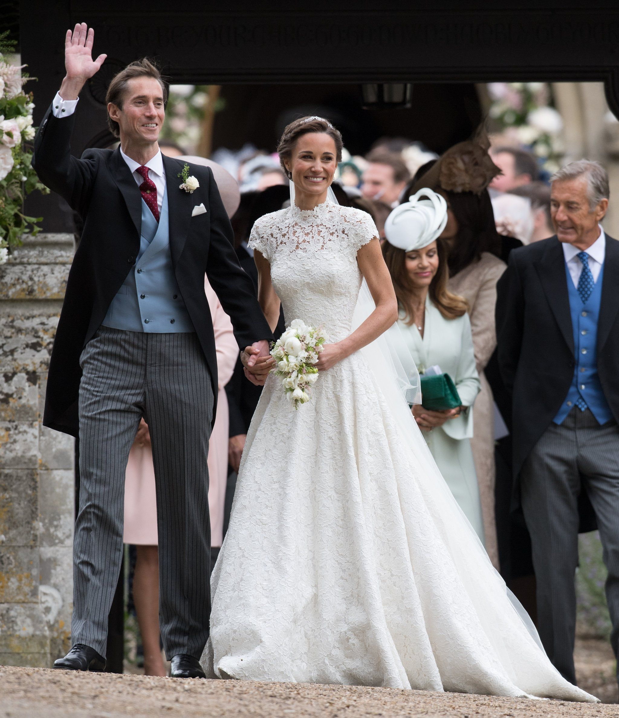 Pippa Middleton\'s Wedding Dress Is a High-Necked, Cap-Sleeved Dream ...