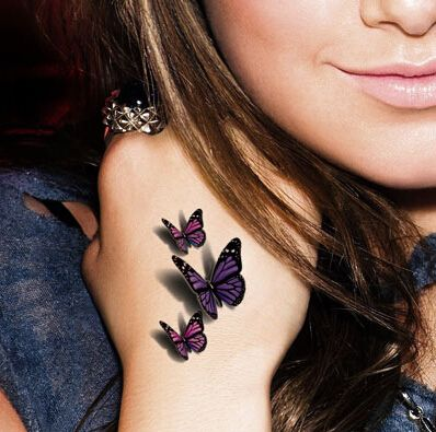 3d-green-purple-butterfly-Tattoos-Waterproof-Hand-Tattoo-Sticker-3D-Male-Women-Watermark-Tattoo-Paste.jpg (398×395)