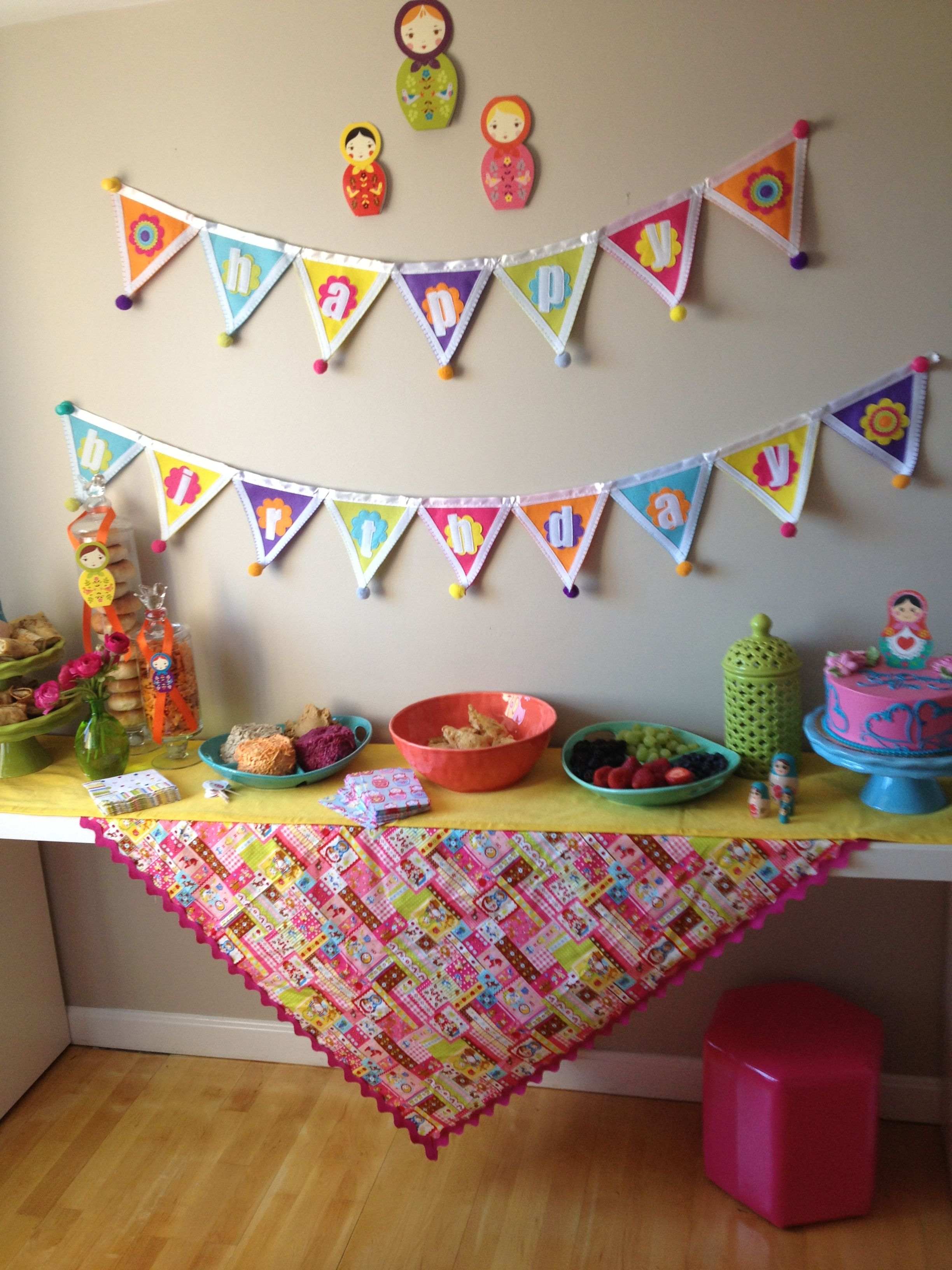 Table Set up - Russian Doll Party  Russian Doll  Pinterest