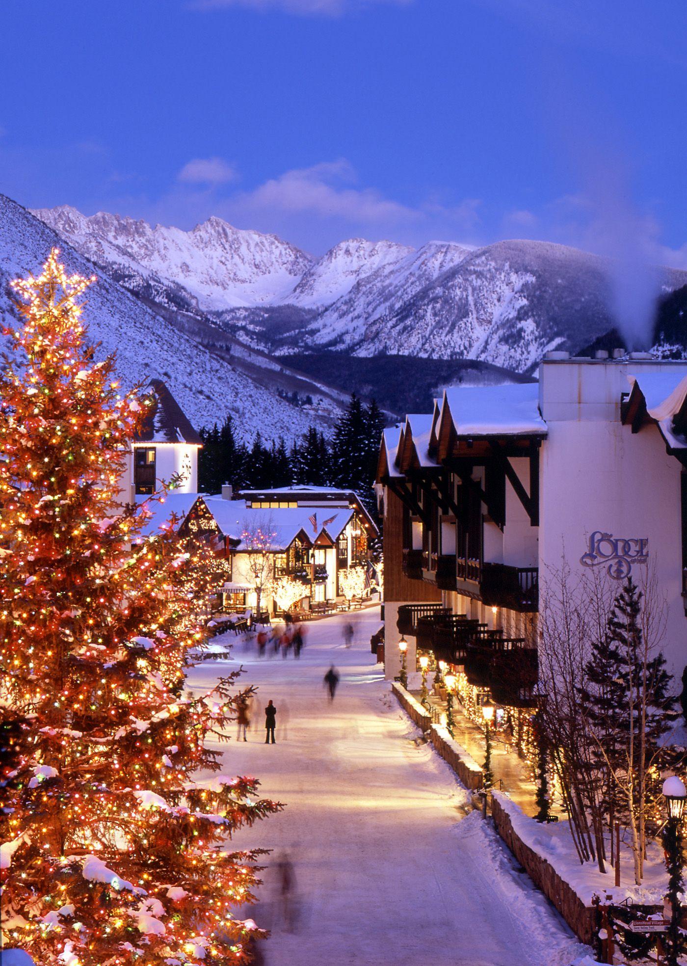 Vail Village In 2020 Winter Wonderland Christmas Winter Scenery Winter Scenes