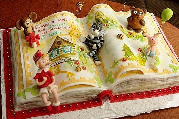 Книга торт с фото | Торт на день рождения