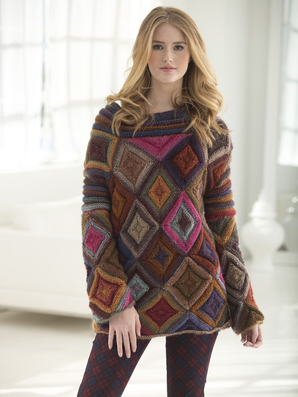 Lion Brand Landscapes Jewel Box Pullover | Yarny Things | Pinterest ...