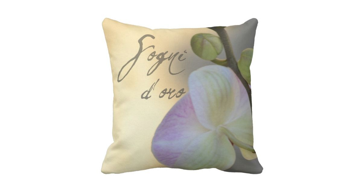 Sogni D'oro Sweet Dreams Orchid Throw Pillow Orchid Throw Fascinating Sweet Dreams Decorative Pillows