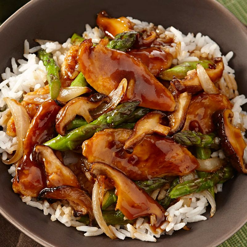 Ginger chicken stir fry with asparagus and shiitake mushrooms ginger chicken stir fry with asparagus and shiitake mushrooms forumfinder Image collections