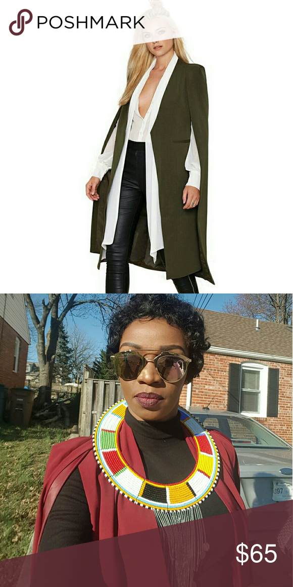 Trench coat Brand new Trench. In black, green n burgundy Jackets & Coats Capes