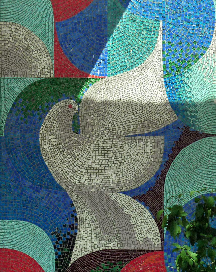 Mid Century Glass Mosaic Mid Century Wall Art Mosaic Art
