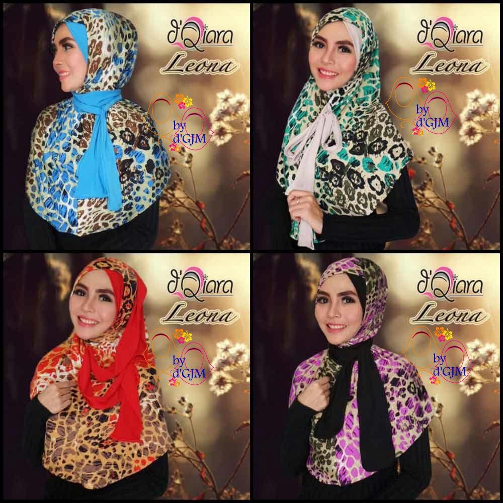 Jilbab Instan Modis Cantik Motif LEONA By DQiara Jilbab