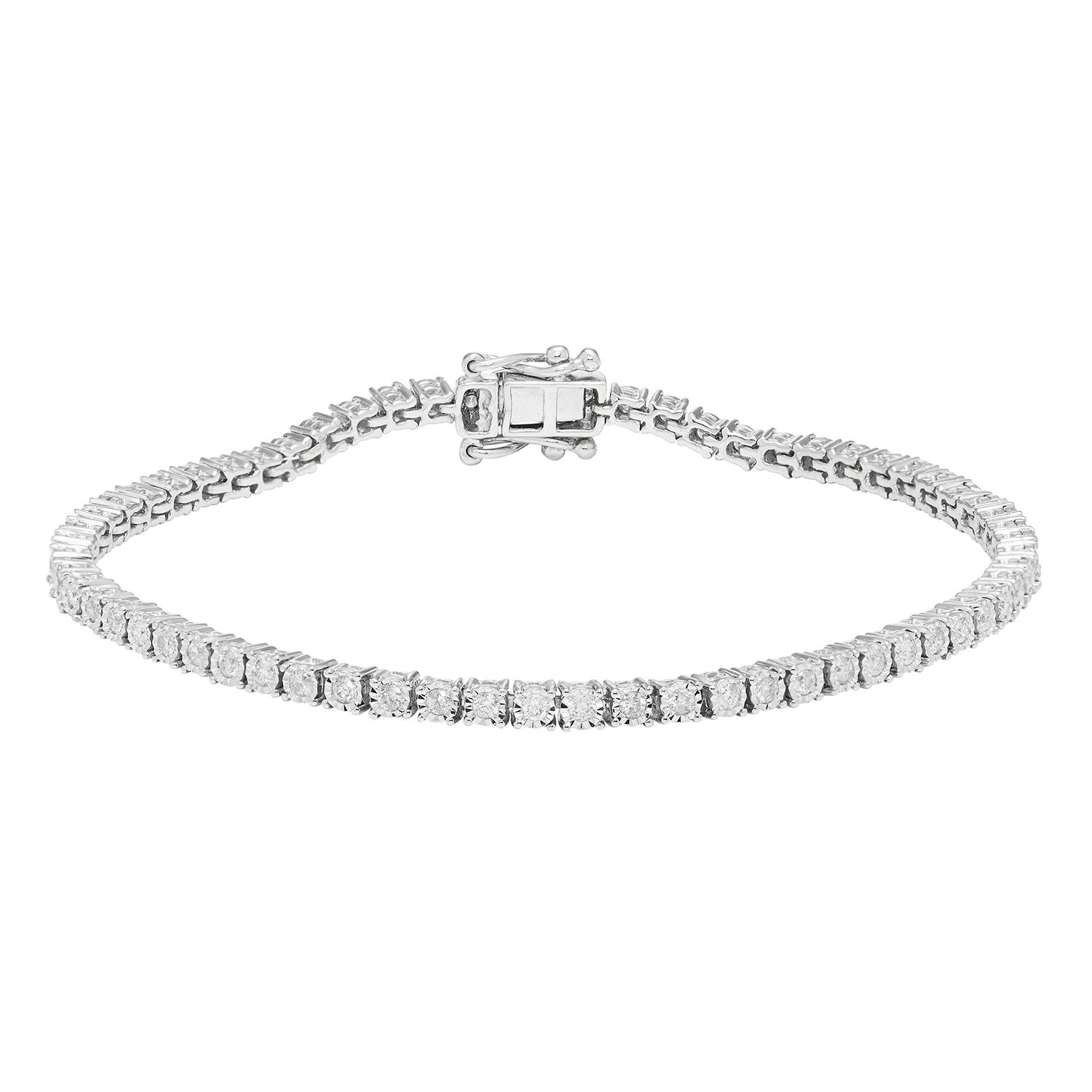 Sofia k white gold ct tdw diamond tennis bracelet hi i