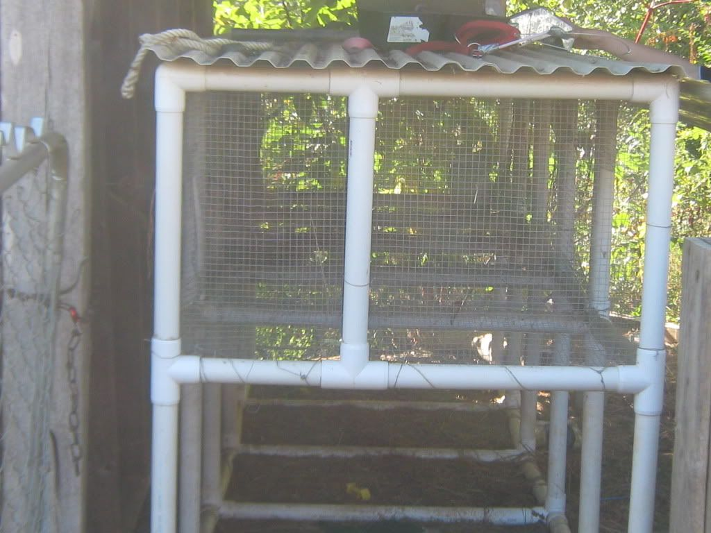 Rabbit hutches on pinterest rabbit cages outdoor rabbit for Pvc rabbit cage