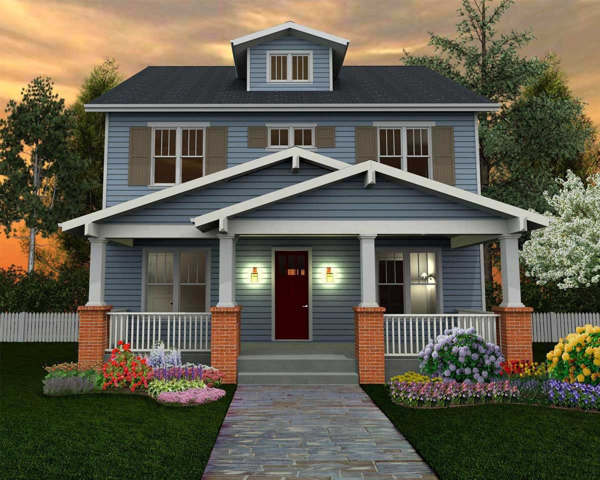 Craftsman House Plan With Optional Third Floor 50125ph Architectural Designs House Plans Craftsman Style House Plans Craftsman House Square House Plans