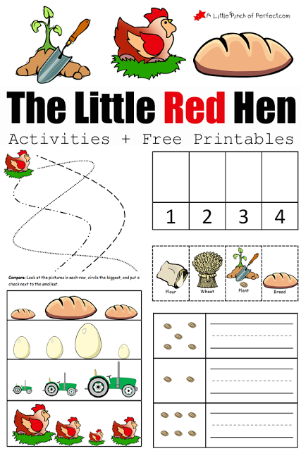 image relating to The Little Red Hen Story Printable referred to as The Minor Pink Chicken Pursuits and Cost-free Printables