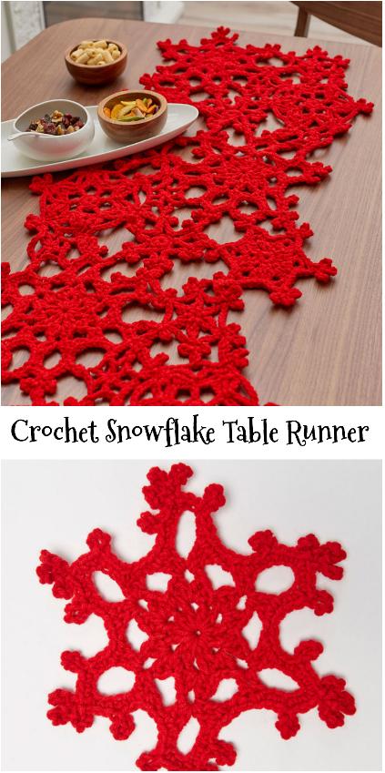 Snowflake Table runner   Dukar   Pinterest   Navidad