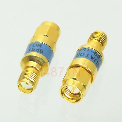 Hot Factory Direct Wholesale 1pce Attenuator 2w 2 Watts Dc 3 Ghz 15db Sma Rf Coaxial Power M Jack F 50resistance Gold Watts Lighting Electrical Equipment