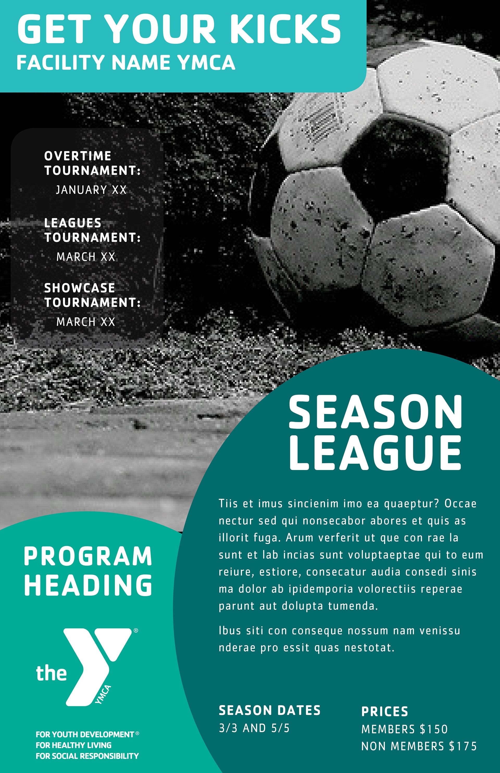 Layout Concept Ymcas Offer A Wide Range Of Programs Soccer Ymca Healthyliving Fitnessfun Healthandwellness Marketing Poster Ymca Youth Programs
