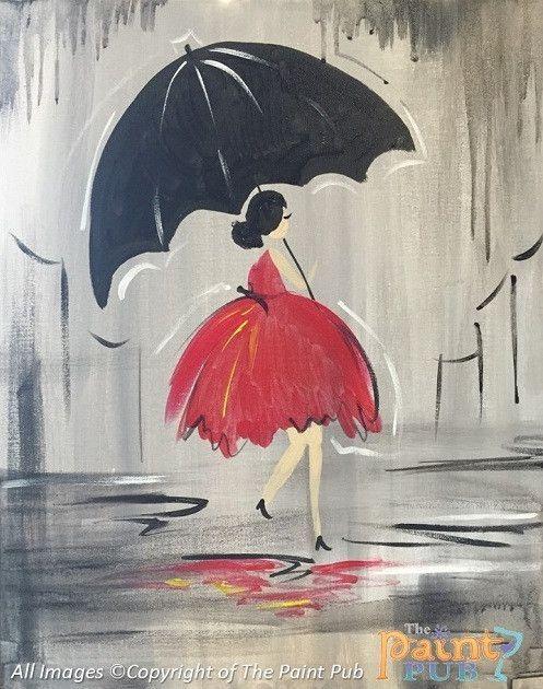 Saturday Stroll Acrylic Canvas Painting