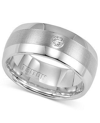 Triton Mens Diamond Ring White Tungsten Carbide Wedding Band 1 10 Ct