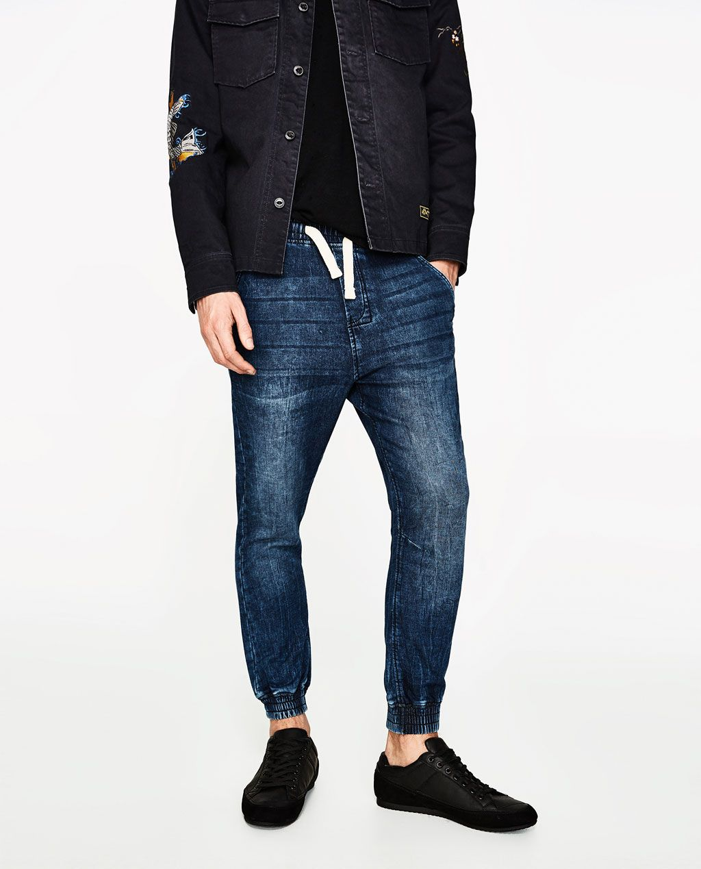 cdbb138f Image 2 of SOFT DENIM JOGGER CHINOS from Zara | Men's Back to School ...