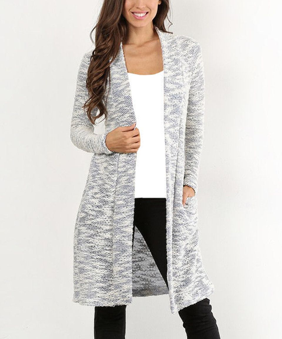 Pretty Young Thing Royal Blue & White Long Cardigan | Blue ...