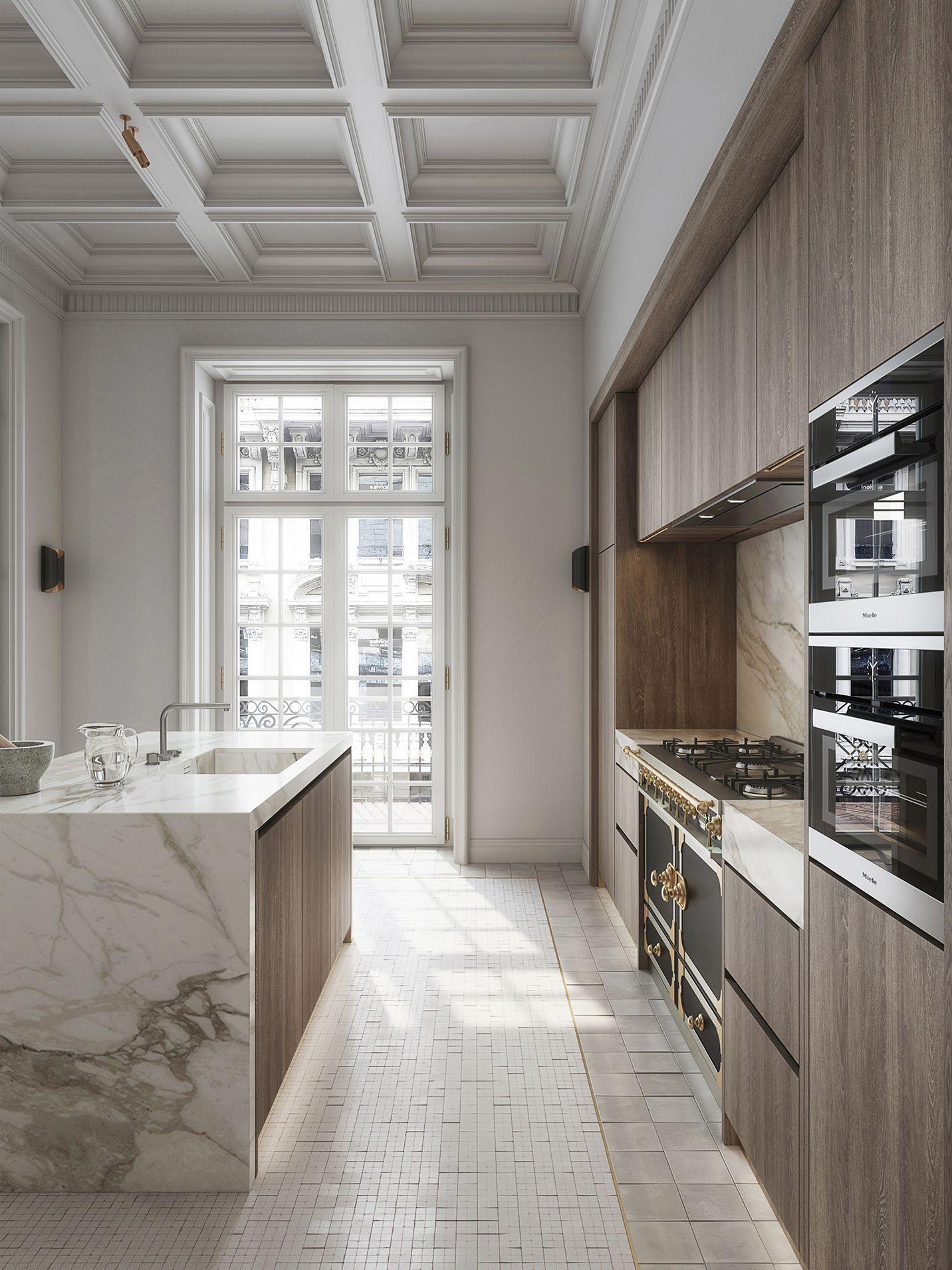 Un piso elegante y señorial en Milán   Cucine contemporanee