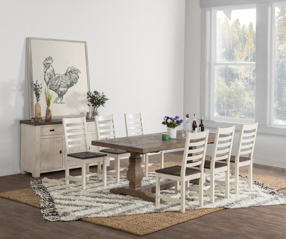 Gertrude Pine Solid Wood Dining Table With Images Solid Wood